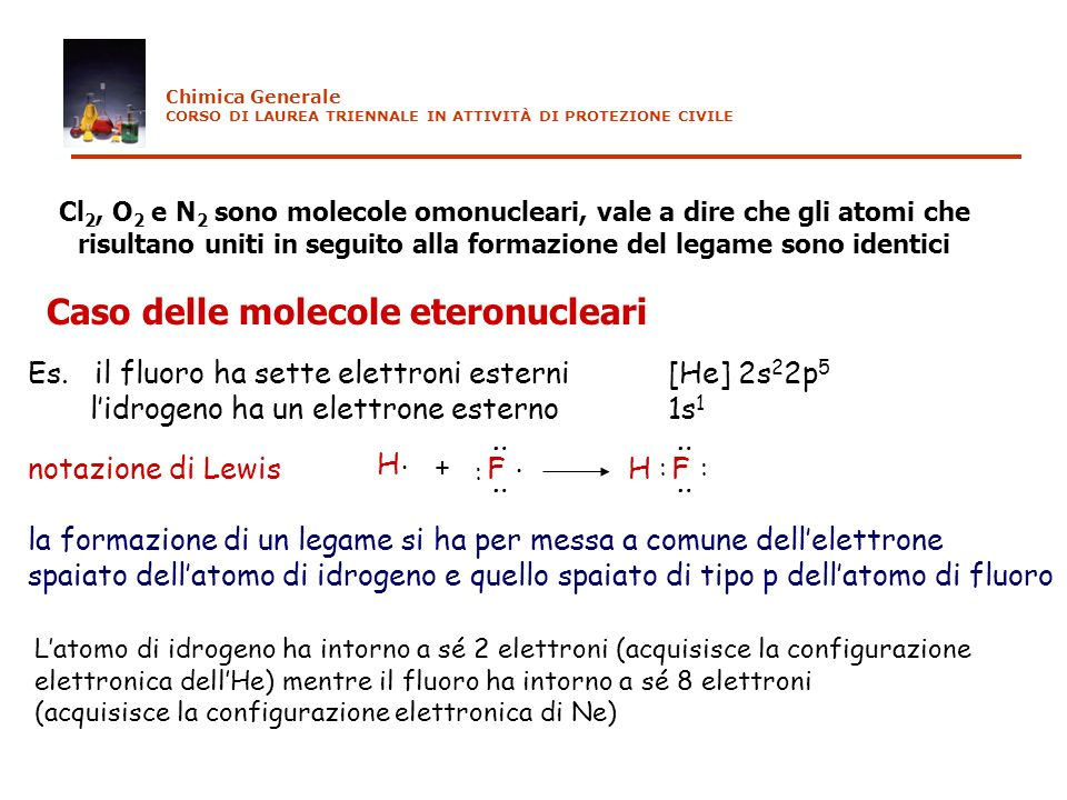 Caso delle molecole eteronucleari
