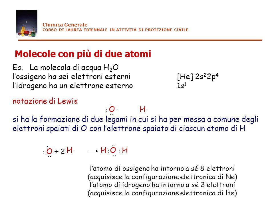 Molecole con più di due atomi