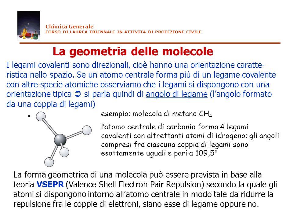 La geometria delle molecole
