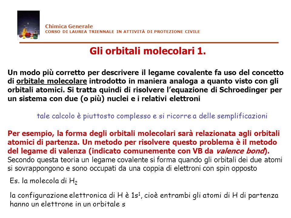 Gli orbitali molecolari 1.