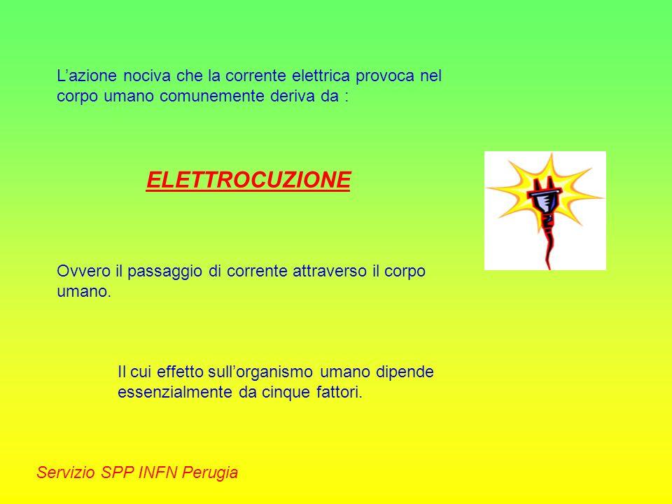 L'azione nociva che la corrente elettrica provoca nel corpo umano comunemente deriva da :
