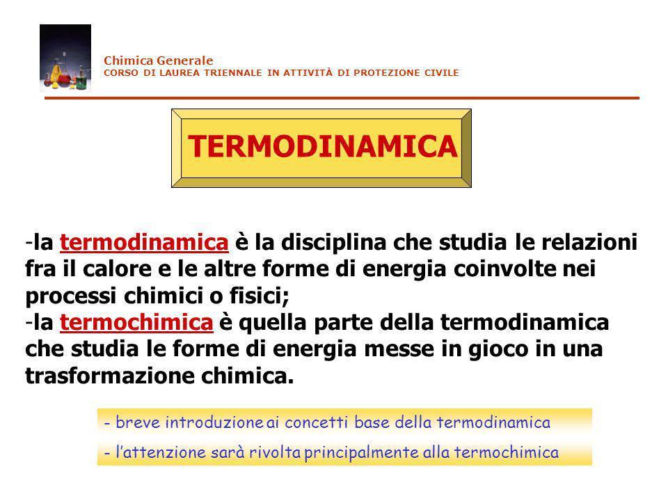 TERMODINAMICA la termodinamica è la disciplina che studia le relazioni