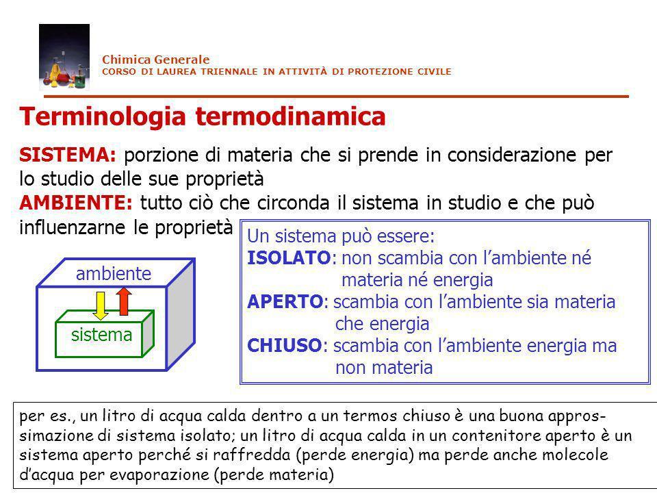 Terminologia termodinamica