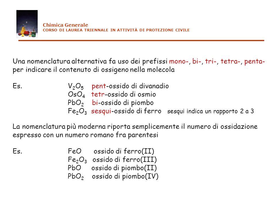 per indicare il contenuto di ossigeno nella molecola