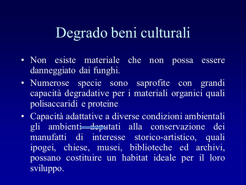 Degrado beni culturali