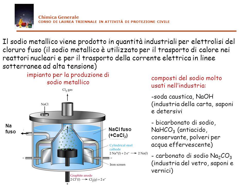 impianto per la produzione di sodio metallico