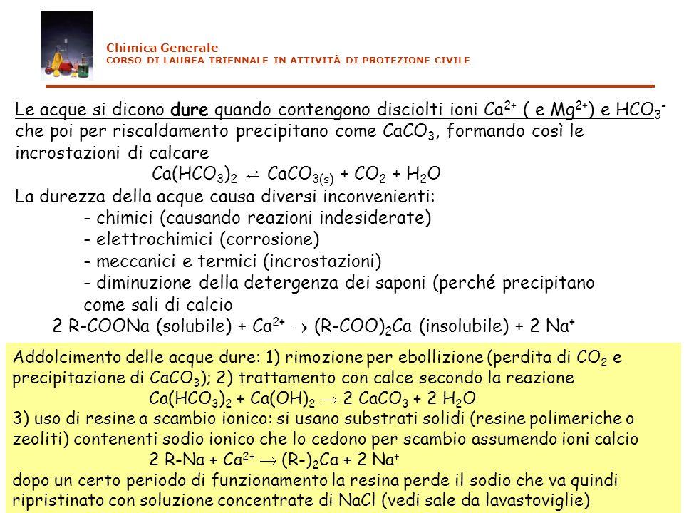 Ca(HCO3)2 ⇄ CaCO3(s) + CO2 + H2O