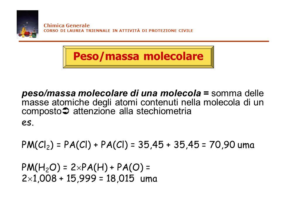 Peso/massa molecolare