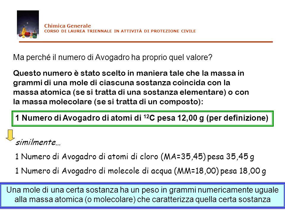 Ma perché il numero di Avogadro ha proprio quel valore