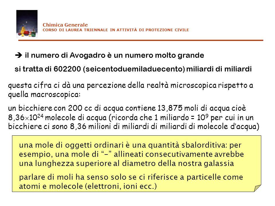  il numero di Avogadro è un numero molto grande