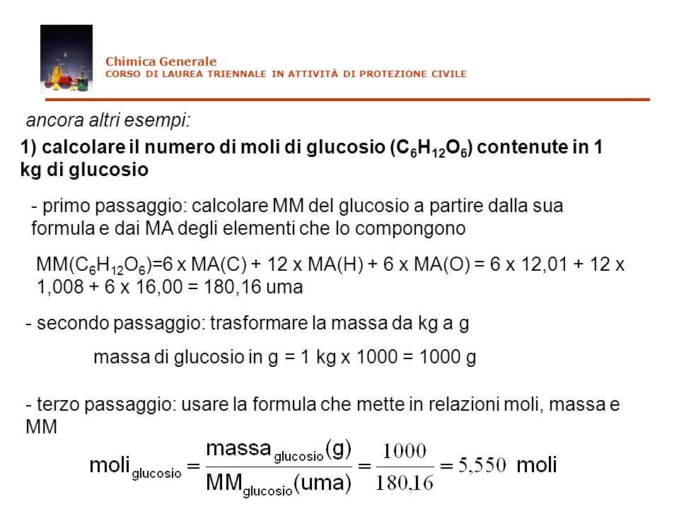 - secondo passaggio: trasformare la massa da kg a g