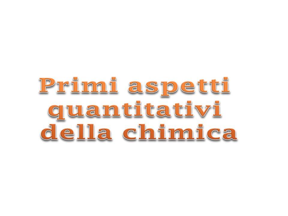 Primi aspetti quantitativi della chimica
