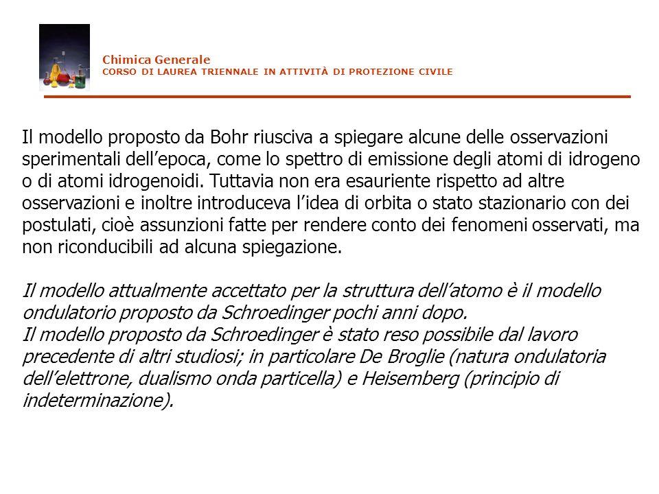 Chimica GeneraleCORSO DI LAUREA TRIENNALE IN ATTIVITÀ DI PROTEZIONE CIVILE.