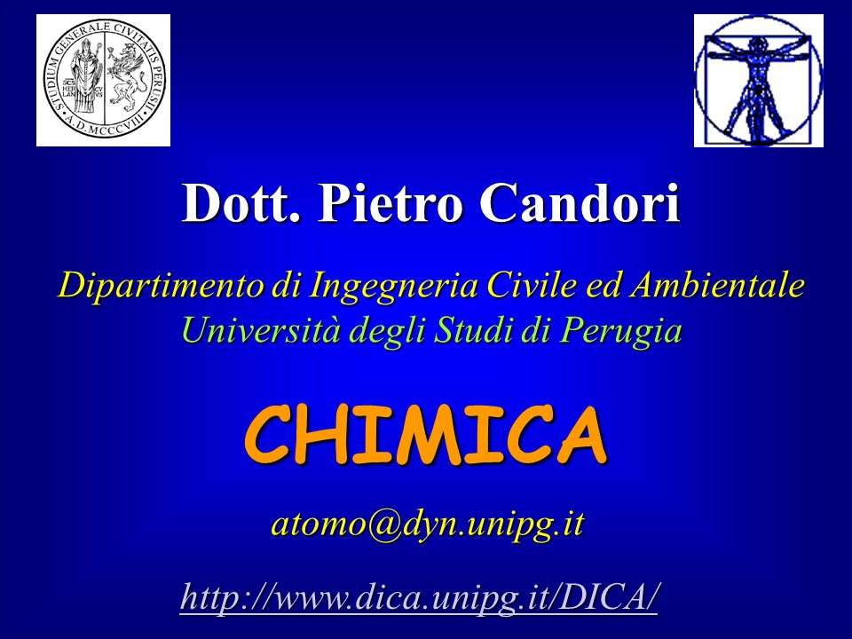 CHIMICA Dott. Pietro Candori