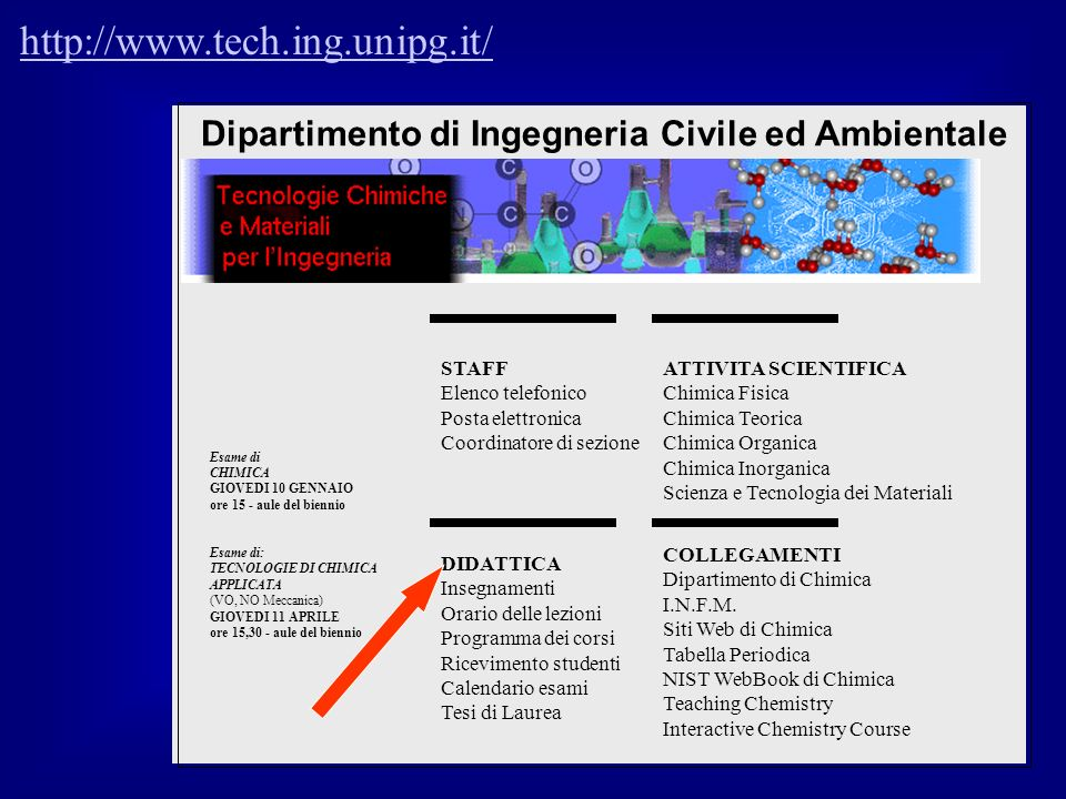 http://www.tech.ing.unipg.it/ Dipartimento di Ingegneria Civile ed Ambientale.