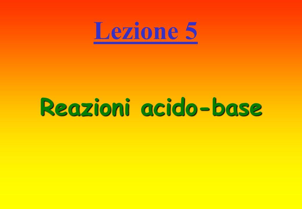 Lezione 5 Reazioni acido-base