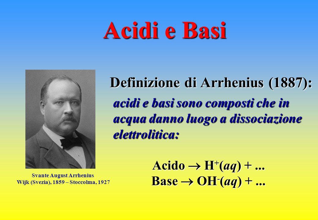 Definizione di Arrhenius (1887):