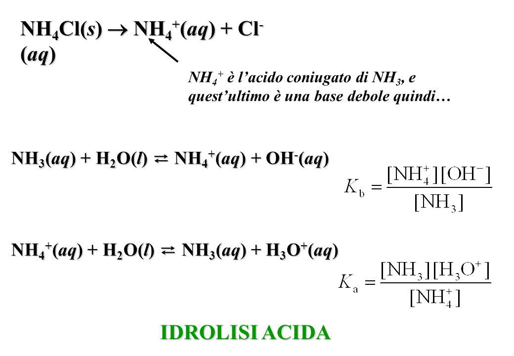 NH4Cl(s)  NH4+(aq) + Cl-(aq)