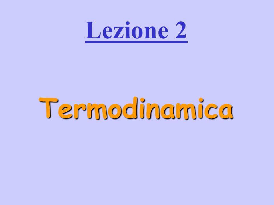 Lezione 2 Termodinamica