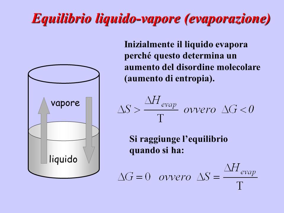 Equilibrio liquido-vapore (evaporazione)