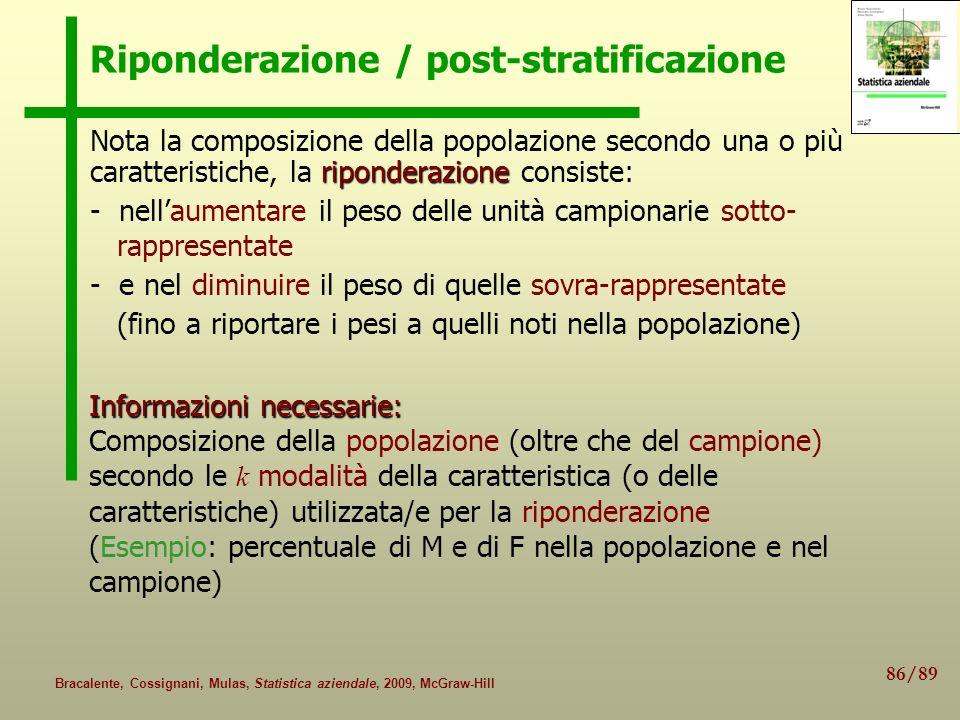 Riponderazione / post-stratificazione