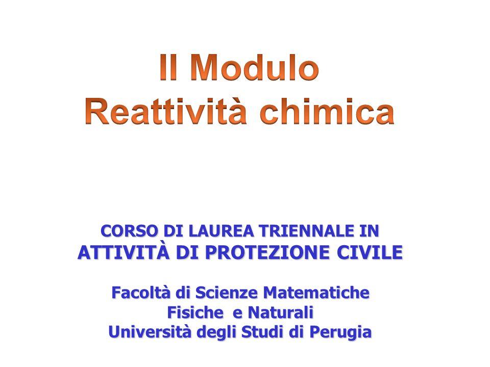 II Modulo Reattività chimica