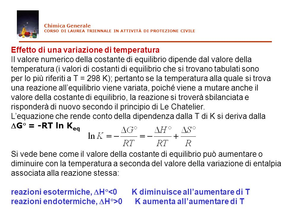 Effetto di una variazione di temperatura