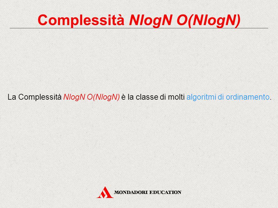Complessità NlogN O(NlogN)