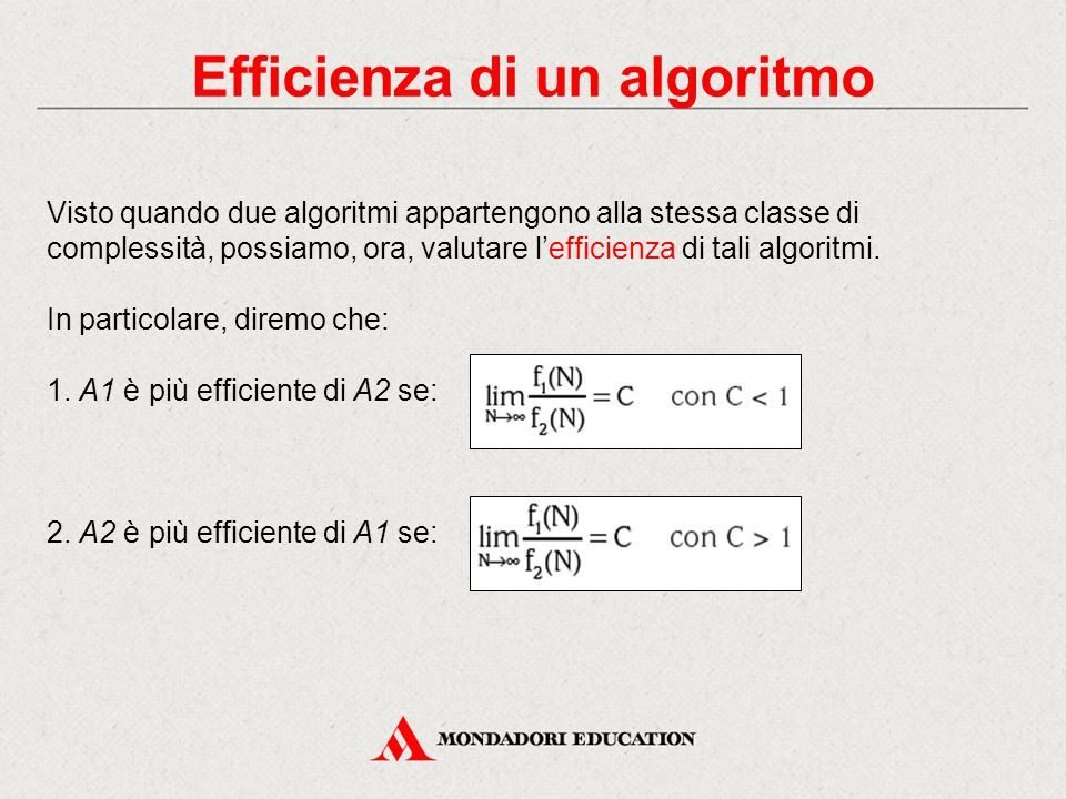 Efficienza di un algoritmo