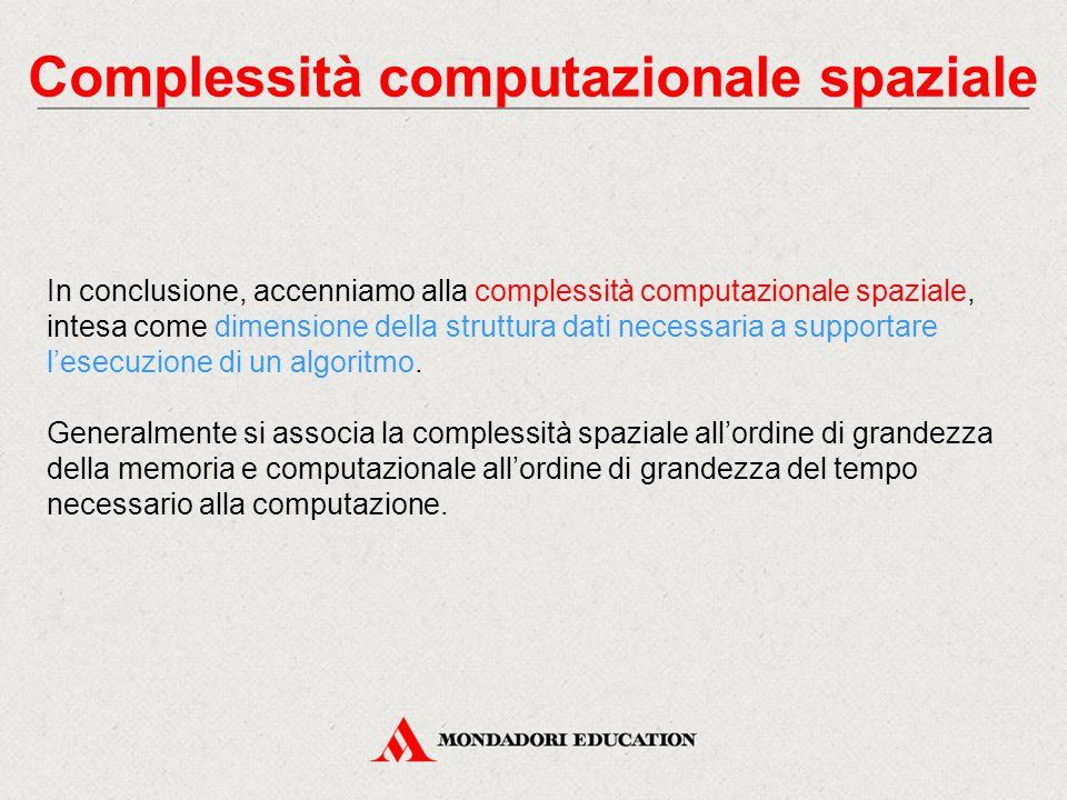 Complessità computazionale spaziale