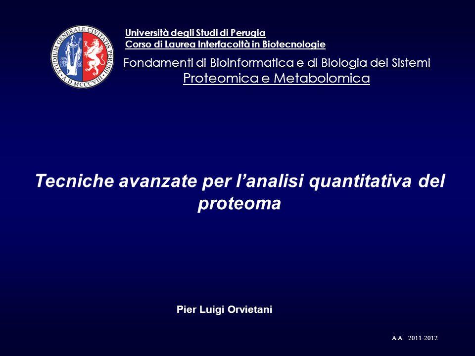 Tecniche avanzate per l'analisi quantitativa del proteoma