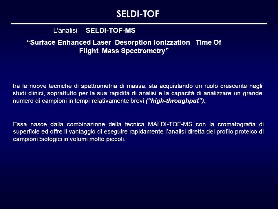 SELDI-TOF L'analisi SELDI-TOF-MS