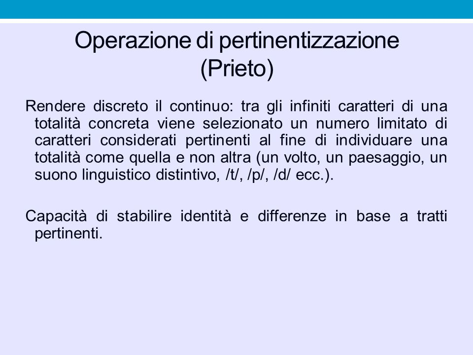 Operazione di pertinentizzazione (Prieto)