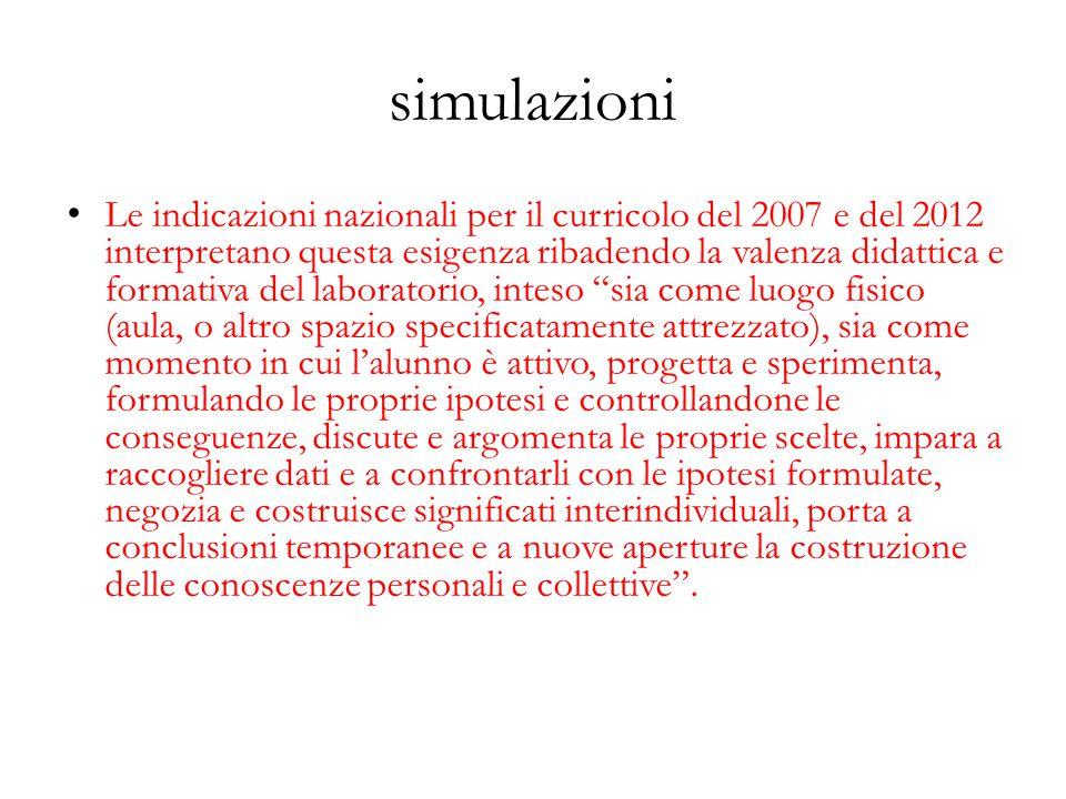 simulazioni