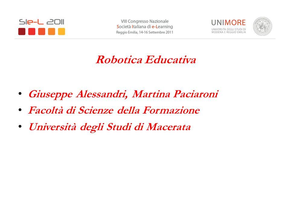 Robotica Educativa Giuseppe Alessandri, Martina Paciaroni