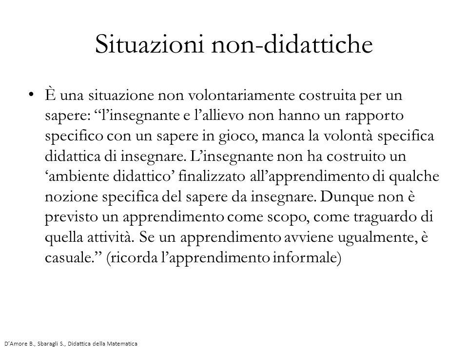 Situazioni non-didattiche