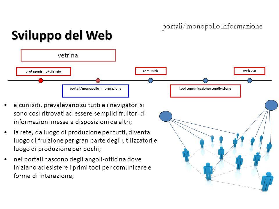 Sviluppo del Web portali/monopolio informazione vetrina