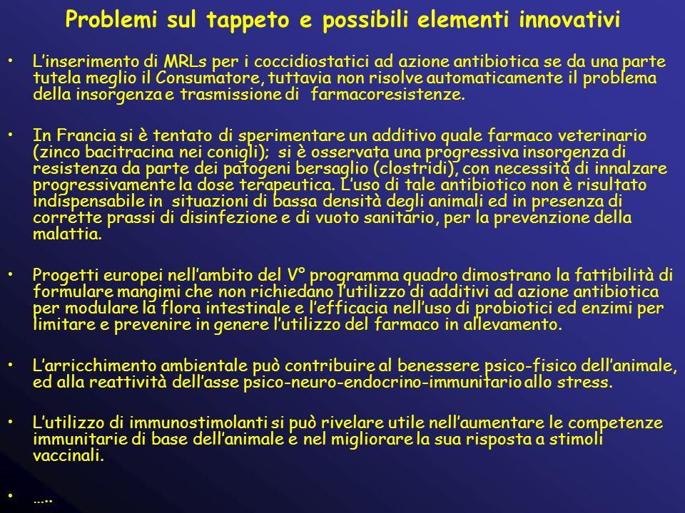 Problemi sul tappeto e possibili elementi innovativi