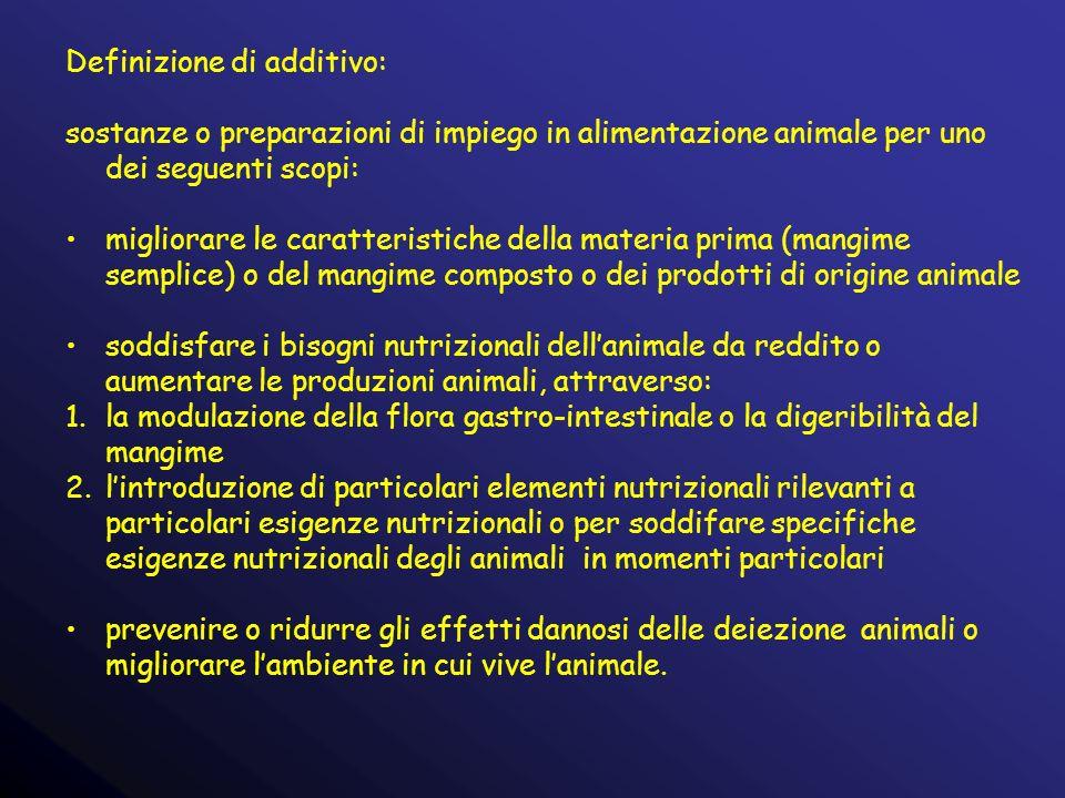 Definizione di additivo: