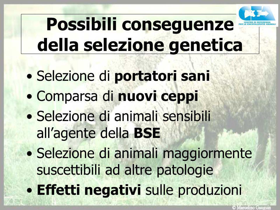 Possibili conseguenze della selezione genetica