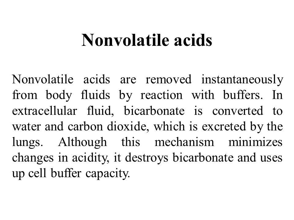 Nonvolatile acids