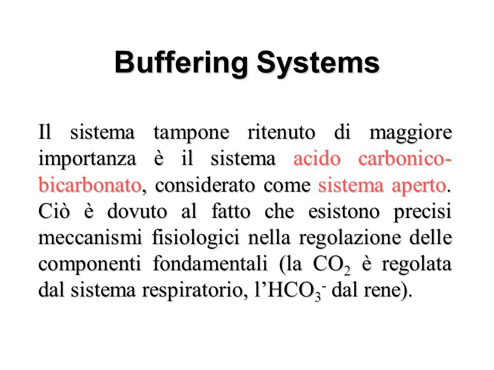 Buffering Systems