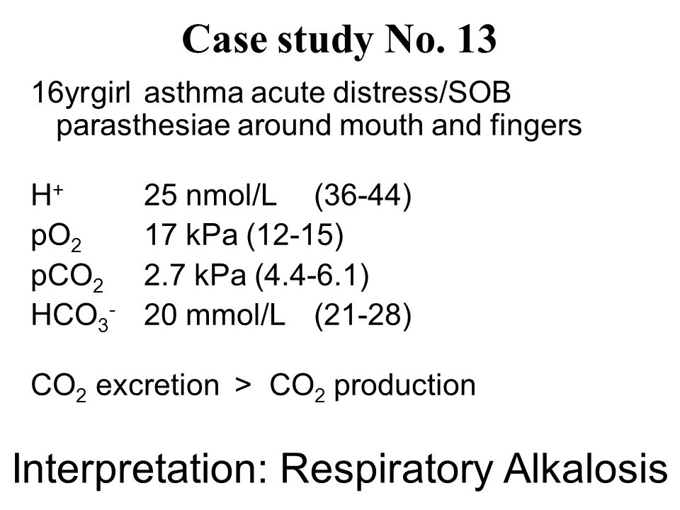 Interpretation: Respiratory Alkalosis