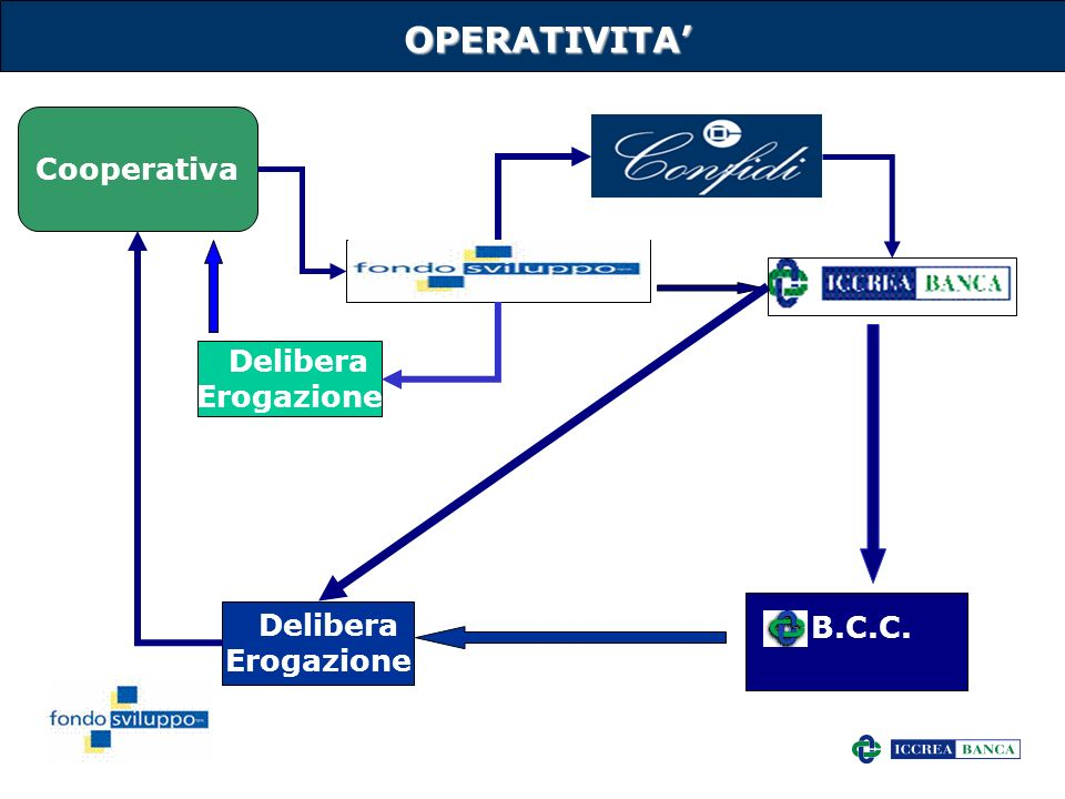 OPERATIVITA' Cooperativa Delibera Erogazione Delibera B.C.C.