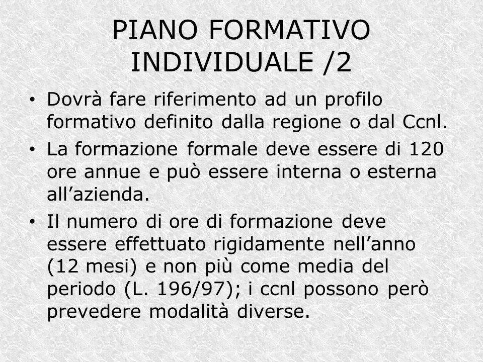 PIANO FORMATIVO INDIVIDUALE /2