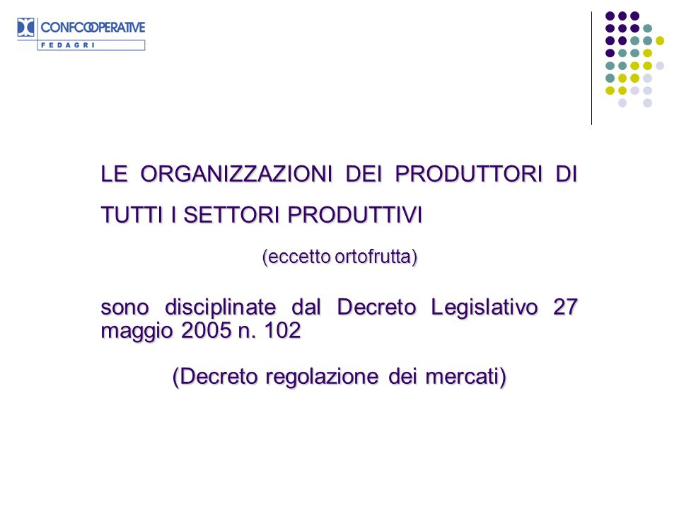 (Decreto regolazione dei mercati)