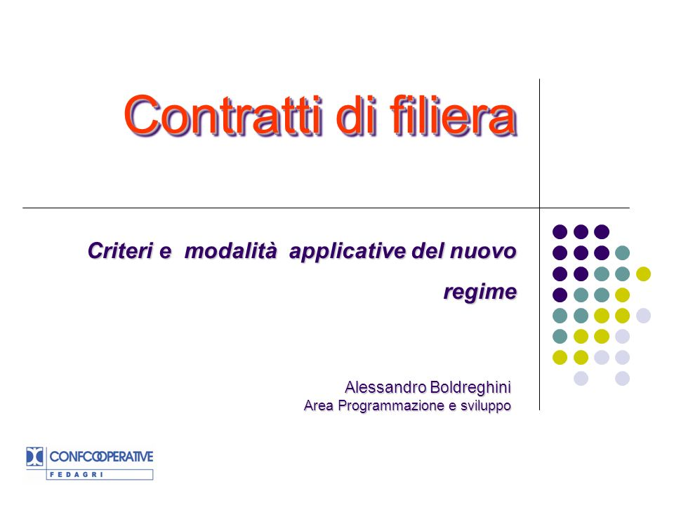 Criteri e modalità applicative del nuovo regime