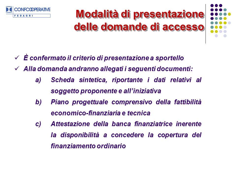 Modalità di presentazione delle domande di accesso