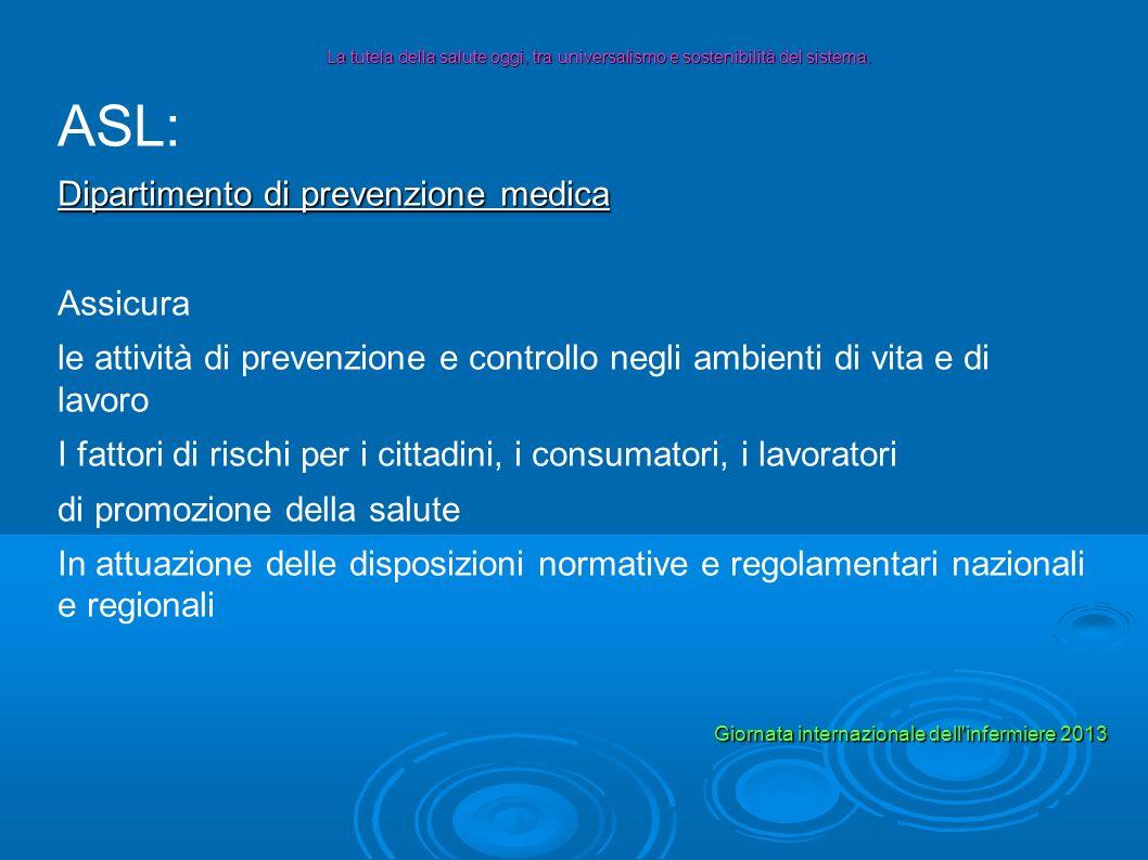 ASL: Dipartimento di prevenzione medica Assicura