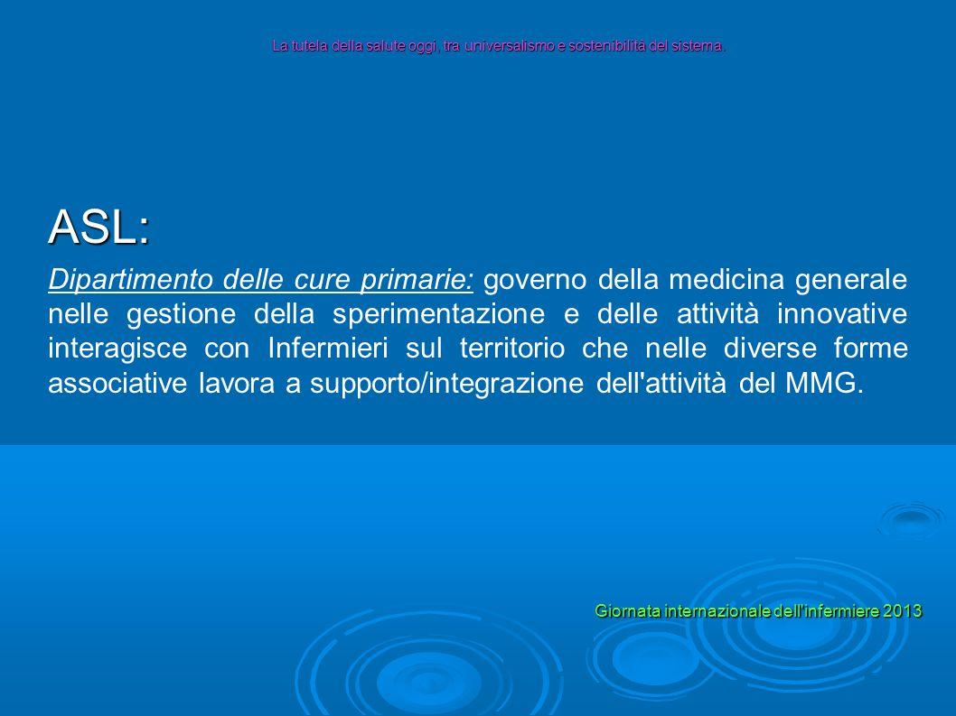 La tutela della salute oggi, tra universalismo e sostenibilità del sistema.